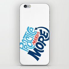 Practice Makes More Practice iPhone & iPod Skin
