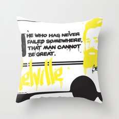 Moby Beard  Throw Pillow