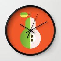Fruit: Pear Wall Clock