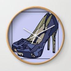 Blue sweet shoe -or....? Wall Clock