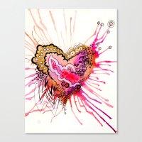 Golden Love Canvas Print
