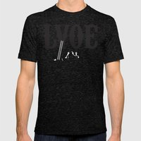 LVOE Mens Fitted Tee Tri-Black SMALL