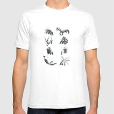 Botanica Letters | Forest Green Mens Fitted Tee White SMALL