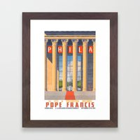 Philadelphia Welcomes Pope Francis Framed Art Print