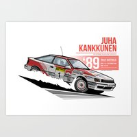 Juha Kankkunen - 1989 Australia Art Print