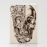 skeleton Stationery Cards featuring Skeleton by ViviRajski
