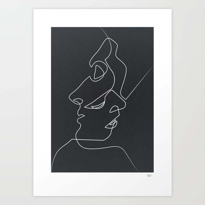 Art prints society6 for Art post minimalisme