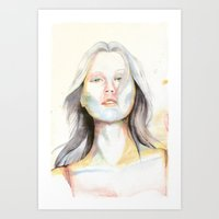 Blond girl Art Print
