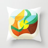 Girl With Golden Earing Throw Pillow