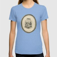 Robot Queen Womens Fitted Tee Tri-Blue SMALL