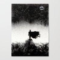 BRUCE WAYNE RISES  Canvas Print
