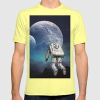 Searching Home Mens Fitted Tee Lemon SMALL