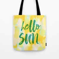 Hello Sun - Sunny yellow abstract Tote Bag