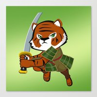 Samurai Tiger Canvas Print
