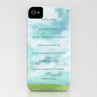 iPhone Cases featuring Blown Away. Sky painting by Sandy Thomson by sandy thomson