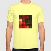Abstract 11 Mens Fitted Tee Lemon SMALL