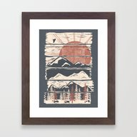 Winter Pursuits... Framed Art Print