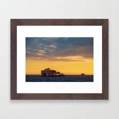Stiltsville Miami Florida Framed Art Print