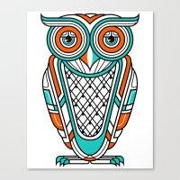 Art Deco Owl Canvas Print
