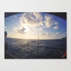 Sea Fishing Canvas Print
