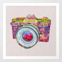 Floral Canon Art Print