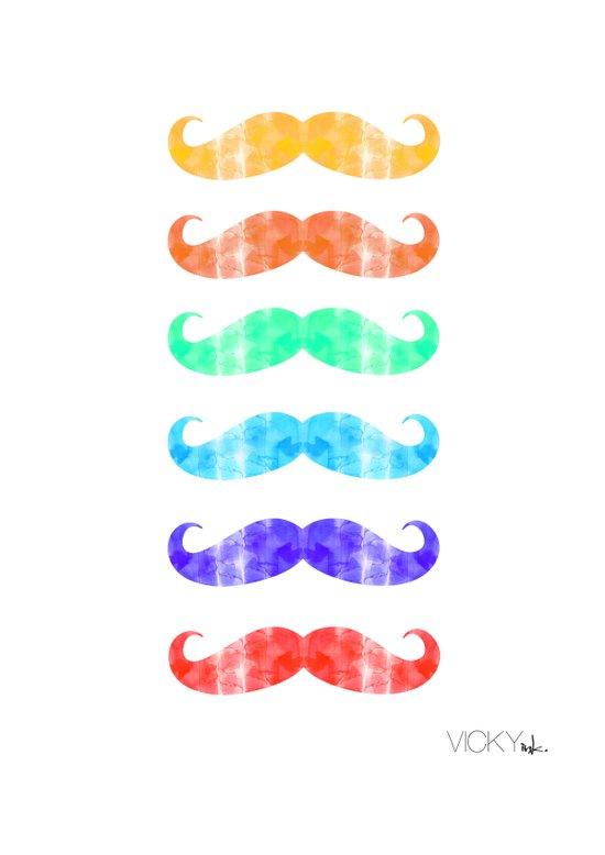 Moustache you a question!  Art Print
