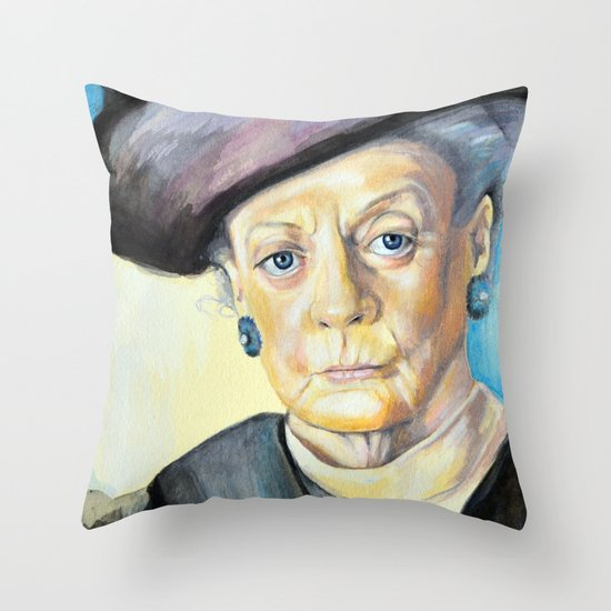 Portrait of Maggie Smith, Dowager Countess of Grantham, Downton Abbey  Throw Pillow