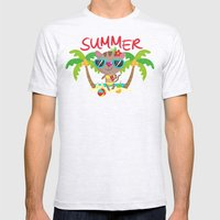 Hello, summer Mens Fitted Tee Ash Grey SMALL