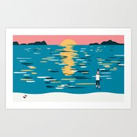 Sunset (My Dad Used To Be So Cool) Art Print
