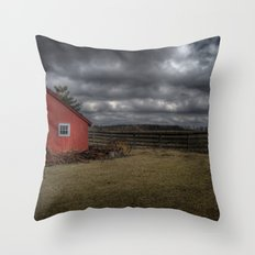The coming storm front Throw Pillow