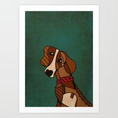 Sad Doggy Art Print