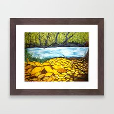 Golden Autumn Framed Art Print