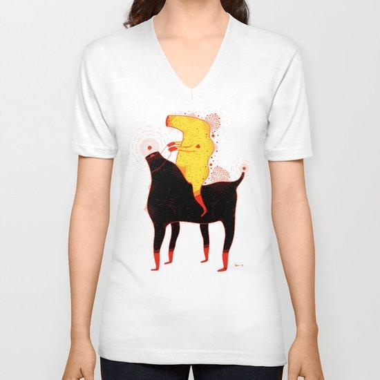 Yellow Rider V-neck T-shirt