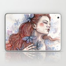 Girl With A Butterfly II… Laptop & iPad Skin