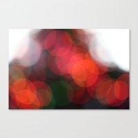 Christmas Lights Bokah  Canvas Print