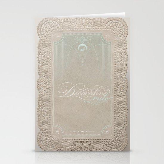 Decorative Rule Stationery Card