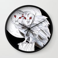 Mutant Owls Wall Clock