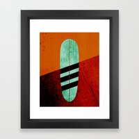 Mint Longboard Framed Art Print