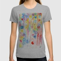 IN BLOOM  Womens Fitted Tee Athletic Grey SMALL