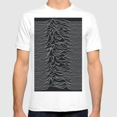 Unknown Radio Waves - Unknown Pleasures Mens Fitted Tee White SMALL