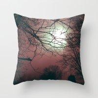 Day Moon Throw Pillow