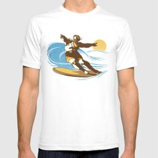 God Surfed SMALL Mens Fitted Tee White