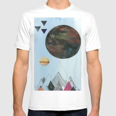 Moons and Mountains Mens Fitted Tee SMALL White