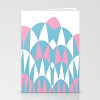 Modern Day Arches Pink Stationery Cards