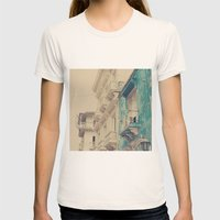 Grunge Summer Town (Retr… Womens Fitted Tee Natural SMALL