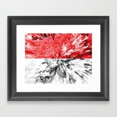 Indonesia Flag - Extrude Framed Art Print