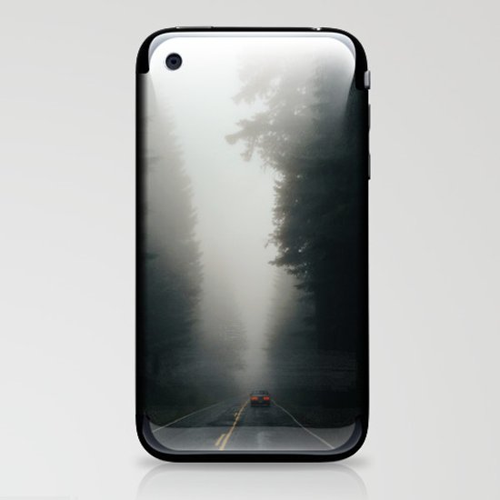 Dark Forest Driving iPhone & iPod Skin