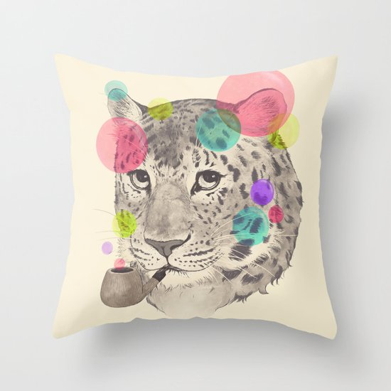 leopard changes his spots Throw Pillow