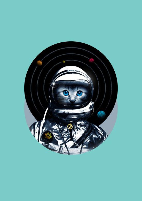 Space Kitten (white ver.) Art Print