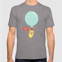 Flying Candle Mens Fitted Tee Tri-Grey SMALL